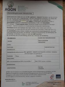 Aanmelding formulier zonder jaartal